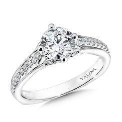 Valina Round Solitaire Engagement Ring R9604W