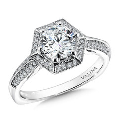 Valina Round Solitaire Engagement Ring R9605W