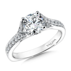Valina Round Solitaire Engagement Ring R9611W