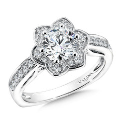 Valina Round Solitaire Engagement Ring R9613W