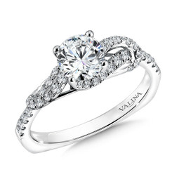 Valina Round Solitaire Engagement Ring R9615W