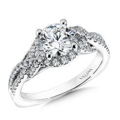 Valina Round Solitaire Engagement Ring R9616W