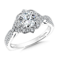 Valina Round Solitaire Engagement Ring R9619W