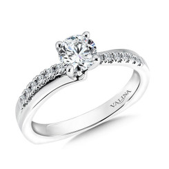 Valina Round Criss Cross Engagement Ring RQ9340W