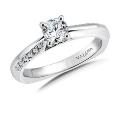 Valina Round Side Stone Engagement Ring RQ9341W