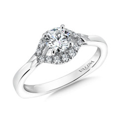 Valina Round Side Stone Engagement Ring RQ9343W