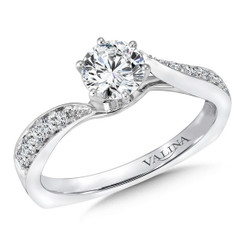 Valina Round Criss Cross Engagement Ring RQ9346W