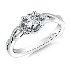Valina Round Side Stone Engagement Ring RQ9348W