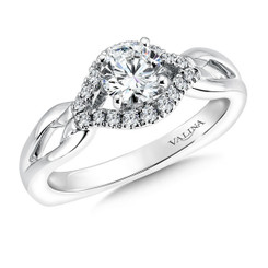 Valina Round Side Stone Engagement Ring RQ9349W