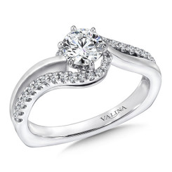Valina Round Side Stone Engagement Ring RQ9350W