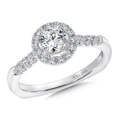 Valina Round Halo Engagement Ring RQ9353W