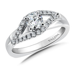 Valina Round Side Stone Engagement Ring RQ9359W