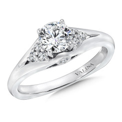 Valina Round Side Stone Engagement Ring RQ9364W