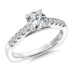 Valina Round Side Stone Engagement Ring RQ9365W
