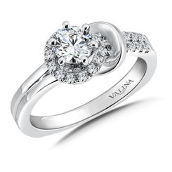 Valina Round Side Stone Engagement Ring RQ9367W