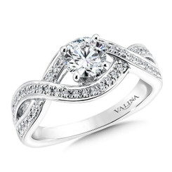 Valina Round Side Stone Engagement Ring RQ9369W