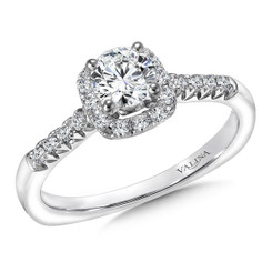 Valina Round Halo Engagement Ring RQ9374W