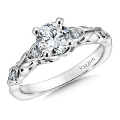 Valina Round Side Stone Engagement Ring RQ9380W