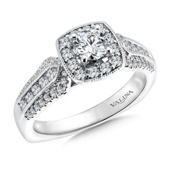 Valina Round Halo Engagement Ring RQ9385W