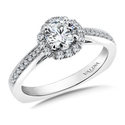 Valina Round Halo Engagement Ring RQ9395W