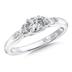 Valina Round Side Stone Engagement Ring RQ9407W