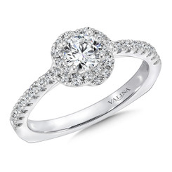 Valina Round Halo Engagement Ring RQ9408W