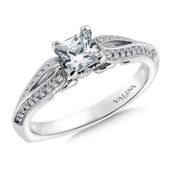 Valina Princess Cut Split Shank Engagement Ring RQ9409W