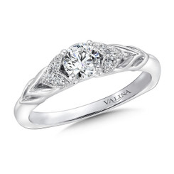 Valina Round Side Stone Engagement Ring RQ9414W