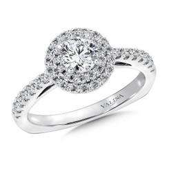 Valina Round Halo Engagement Ring RQ9432W