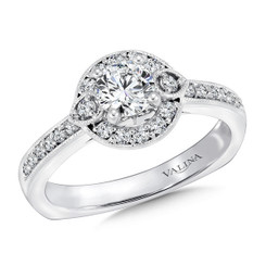 Valina Round Side Stone Engagement Ring RQ9440W