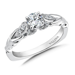 Valina Round Side Stone Engagement Ring RQ9442W