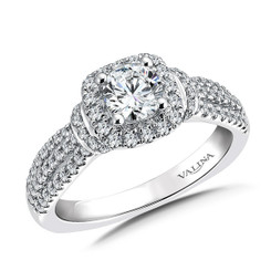 Valina Round Solitaire Engagement Ring RQ9492W