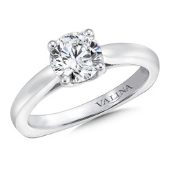 Valina Round Solitaire Engagement Ring R9631W