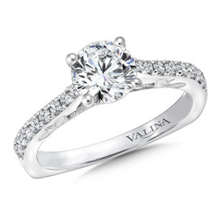 Valina Round Straight Engagement Ring R9656W