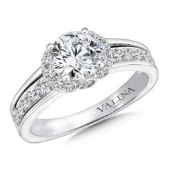 Valina Round Straight Engagement Ring R9660W