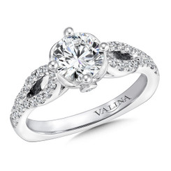 Valina Round Split Shank Engagement Ring R9666W