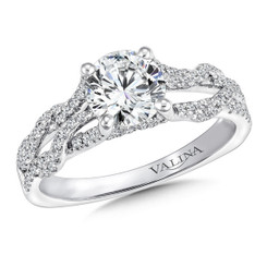 Valina Round Split Shank Engagement Ring R9669W