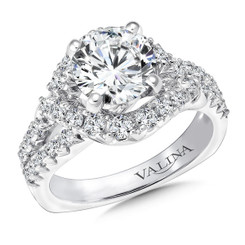 Valina Round Split Shank Engagement Ring R9671W