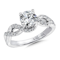 Valina Round Criss Cross Engagement Ring R9673W