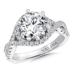 Valina Round Halo Engagement Ring R9674W