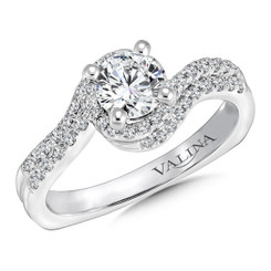 Valina Round Criss Cross Engagement Ring RQ9620W