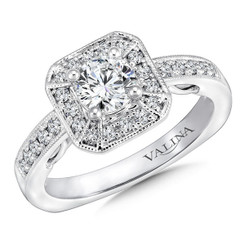 Valina Round Halo Engagement Ring RQ9625W