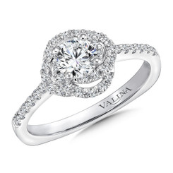 Valina Round Halo Engagement Ring RQ9655W