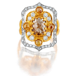 Suneera Lakshmi Peach Ring