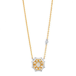 Suneera Harper Yellow and White Gold Necklace