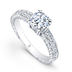 Beverley K Diamond Engagement Ring R175(A)(WF)-DDM