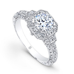 Beverley K Diamond Engagement Ring R367(A)(WF)-DDM