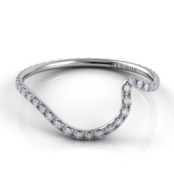 Danhov Abbraccio Polished Curved Diamond Band AB100-A