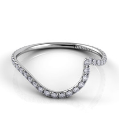 Danhov Abbraccio Polished Curved Diamond Band AB100-Q