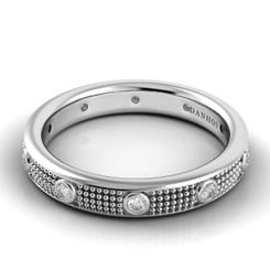 Danhov Pelote Polished Domed Diamond Band PM102-4